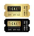 golden ticket set cinema theater party museum vector image vector image