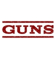 Guns Watermark Stamp vector image vector image
