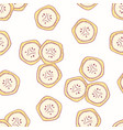 Hand drawn seamless pattern with bananas vector image