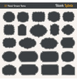 handrawn blank labels vector image vector image
