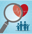 heartbeat search family medical vector image