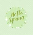 Hello Spring Circular Floral Wreaths vector image