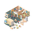 house removal service company loader and vector image
