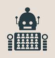 humans vs robots vector image vector image