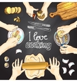 I love cooking vector image vector image
