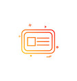 id card icon design vector image vector image