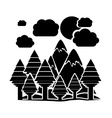Isolated forest and mountain design vector image