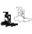 las vegas city map vector image