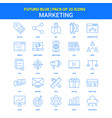 marketing icons - futuro blue 25 icon pack vector image vector image