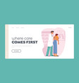 medical check up landing page template vector image vector image