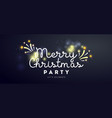 merry christmas party banner with text glitter vector image vector image