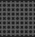 outline dark seamless pattern with cog vector image vector image