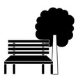 park bench and tree natural landscape vector image vector image