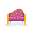 purple vintage ottoman interior design element vector image