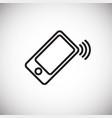 ringing phone thin line on white background vector image