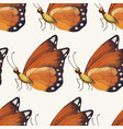 seamless pattern vith cute 3d insect vector image vector image