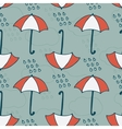Seamless Pattern with Rain and Umbrellas vector image vector image