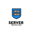 server protection logo design inspiration vector image