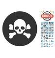 Skull Black Spot Icon with 2017 Year Bonus