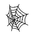 spider web icon doodle hand drawn or black vector image vector image