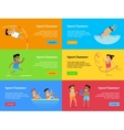 sport banners summer games set collection vector image