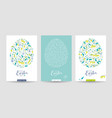 spring flowers and herbs easter cards set vector image vector image