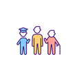 stages adulthood rgb color icon vector image