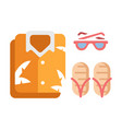 summer outfit flat vector image vector image