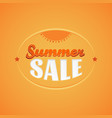 summer sale lettering design template with sun vector image vector image