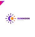 sun and moon logo abstract vector image vector image