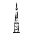 telecommunications tower vector image vector image
