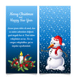 the pattern of double vertical christmas card with vector image vector image