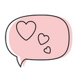 thinking love speech bubble vector image vector image