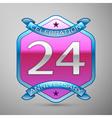 Twenty four years anniversary celebration silver vector image vector image