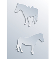 two horses vector image vector image