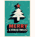 typographic grunge christmas greeting card design vector image vector image