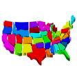 united states map vector image vector image
