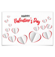 valentines day romantic greeting card with paper vector image