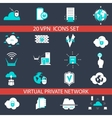 VPN Icons Set vector image vector image