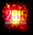 year 2015 made of colored neon effect vector image