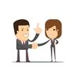 Handshake of business partners or people vector image