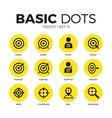 target flat icons set vector image