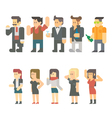 Flat design of party people set vector image