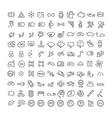 100 line icons set