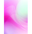 abstract curved on pink background vector image vector image