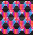 abstract neon triangle seamless pattern vector image vector image