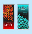 abstract roll up with red and green lines on black vector image vector image