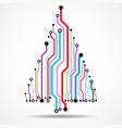 abstract technology colorful christmas tree vector image vector image