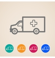 ambulance car icons vector image vector image