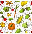 autumn seamless pattern fall season background vector image vector image